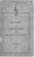 History of Churches of Orange County.