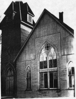 Paoli Methodist Episcopal Church around 1920.