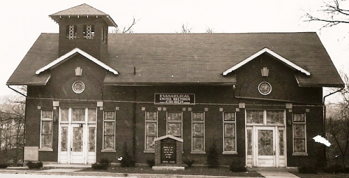 Exterior Of Paoli Evangelical United Brethren Church In The Early 1960s