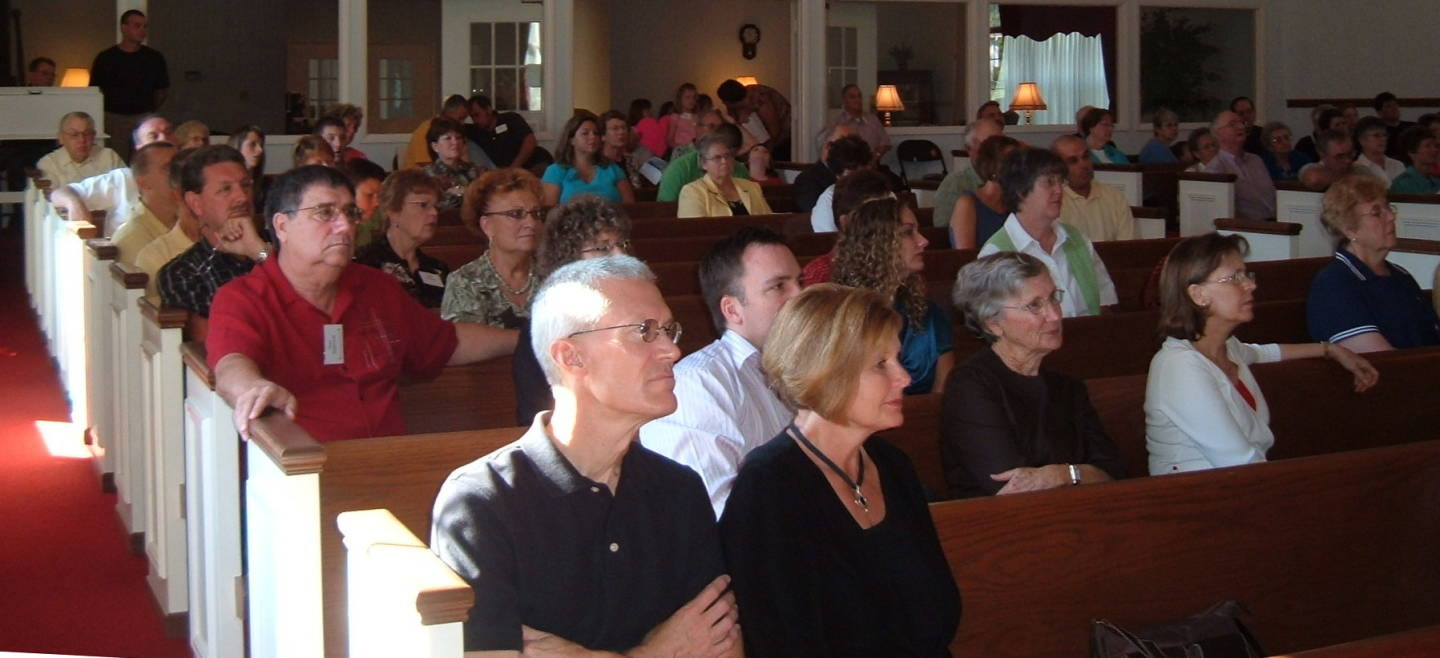 Sunday morning worship service at the Paoli United Methodist Church