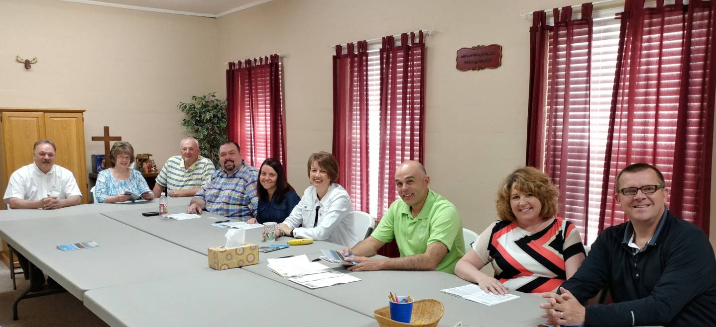 Adult Bible study class at the Paoli United Methodist Church