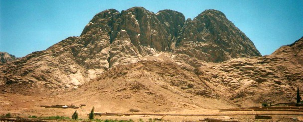 Mount Sinai as seen from near the village of Al Milga.