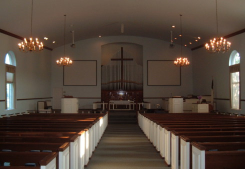 Sanctuary of Paoli United Methodist Church.