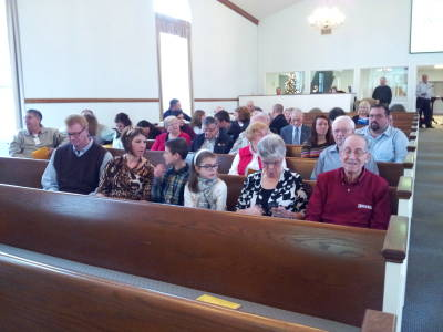 Worship service at the Paoli United Methodist Church.
